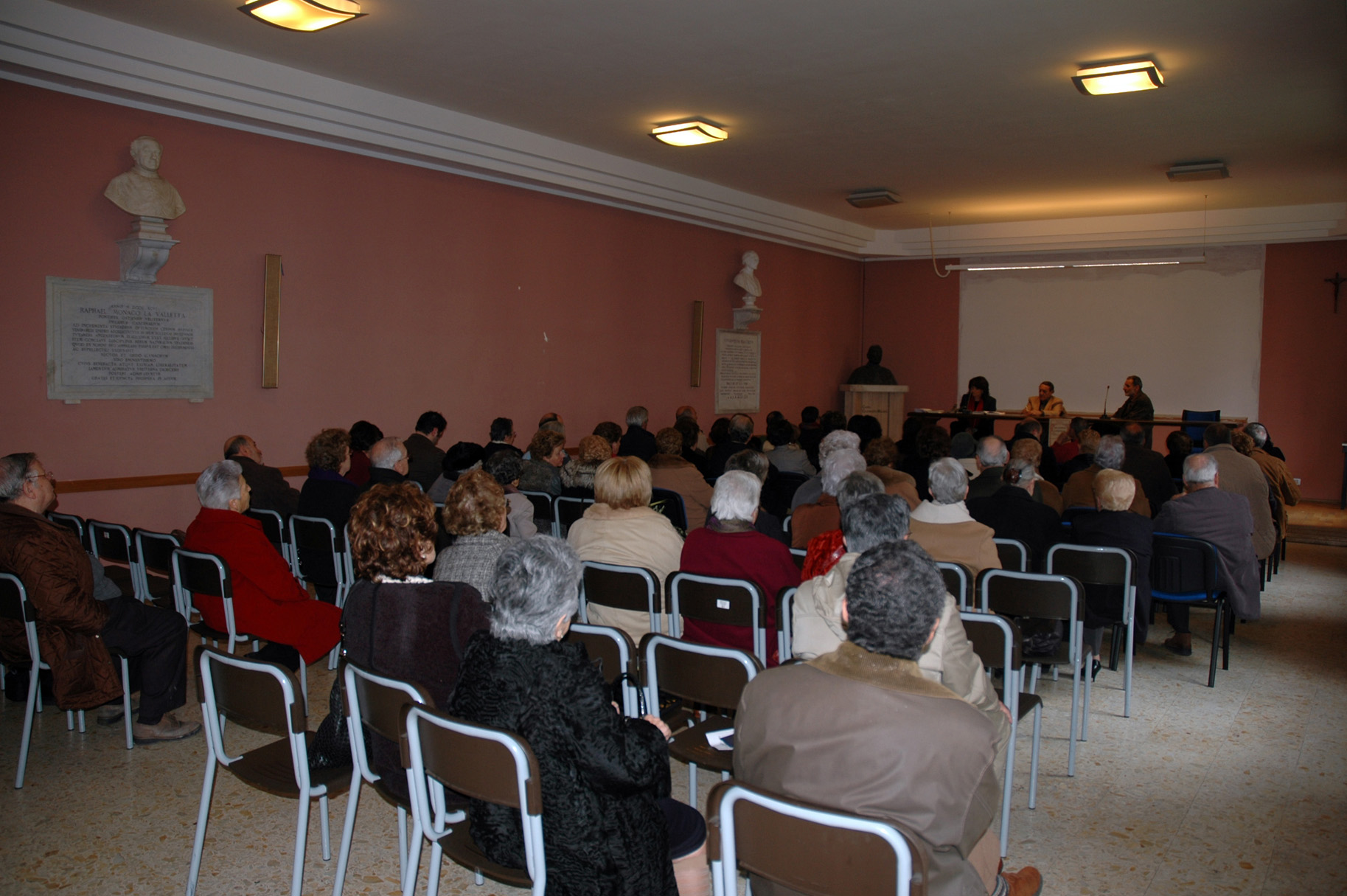 Il pubblico nella Sala Micara