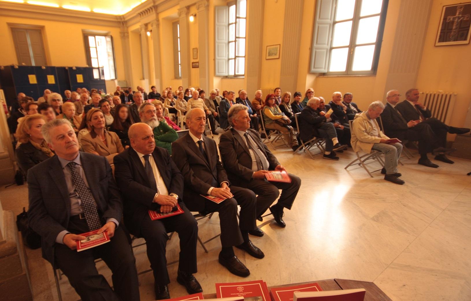 Lucidi, Caliciotti, Mastrostefano e Servadio alla premiazione del 7 aprile 2016